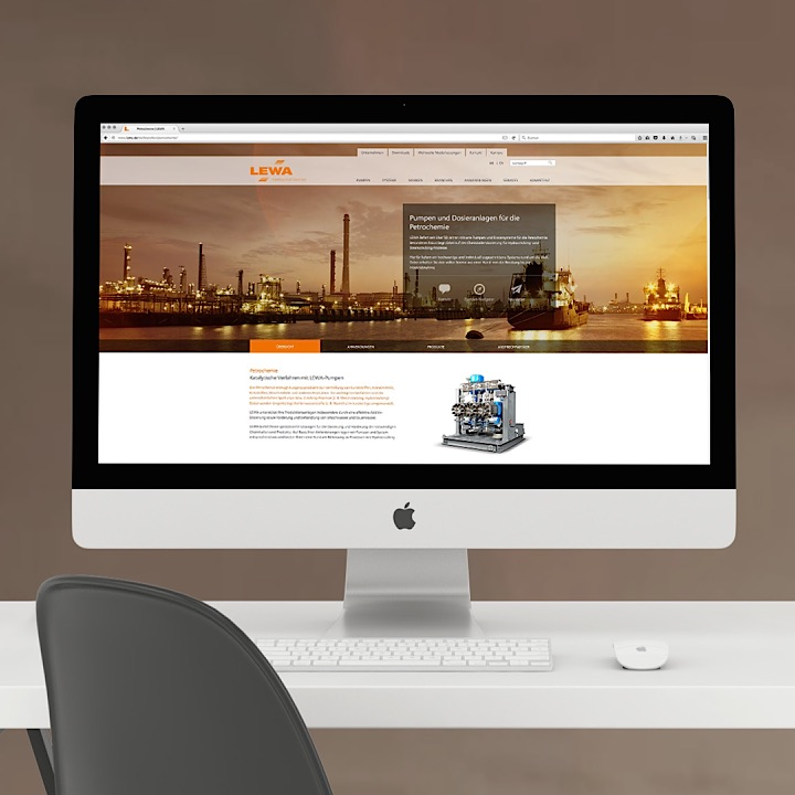 Design, Programmierung & Content management globale Website